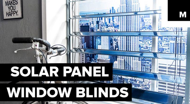 Solar Panel Window Blinds
