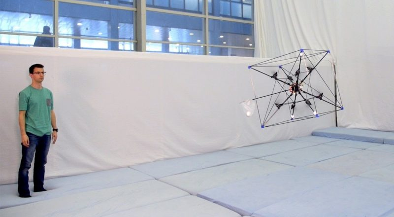 The Omnicopter, a futuristic drone which can hover in any given orientation
