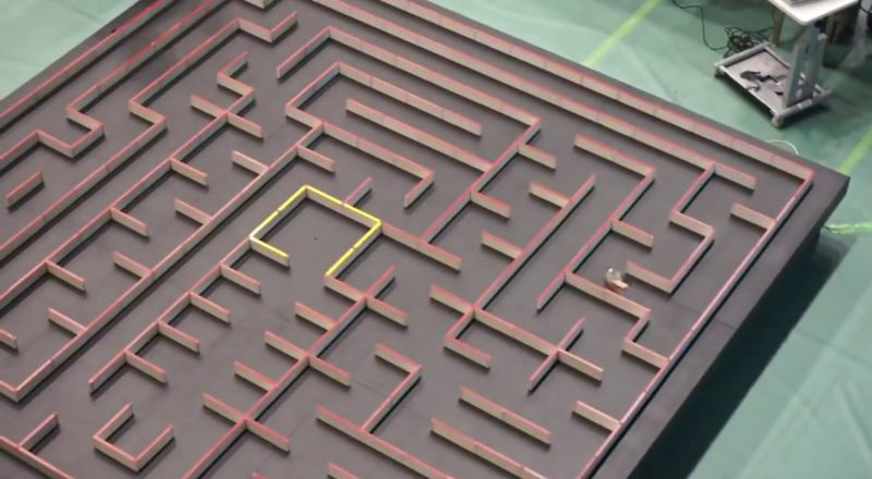 Ultra fast Japanese maze solving robots