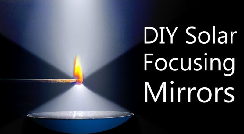 How To Make Solar Concentrating Mirrors