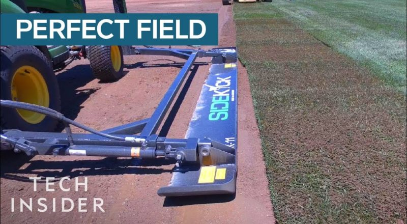 Watch An Athletic Field Be Perfectly Created