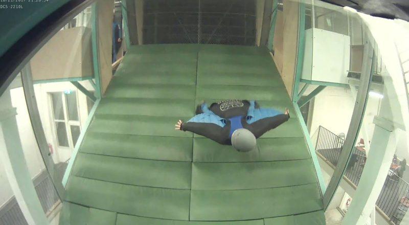 Wingsuit progression in wind tunnel