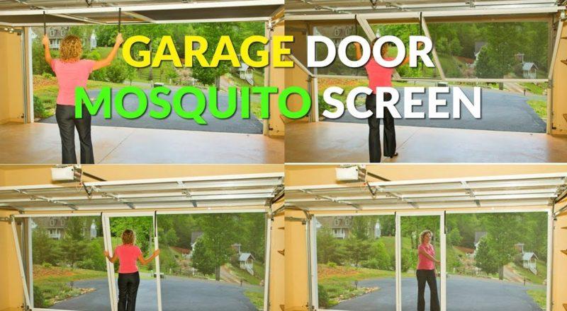 Rolling Garage Door Mosquito Screen Attaches To Garage Track