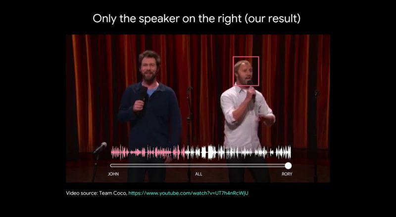 Google is working on a way to separate the audio from two people