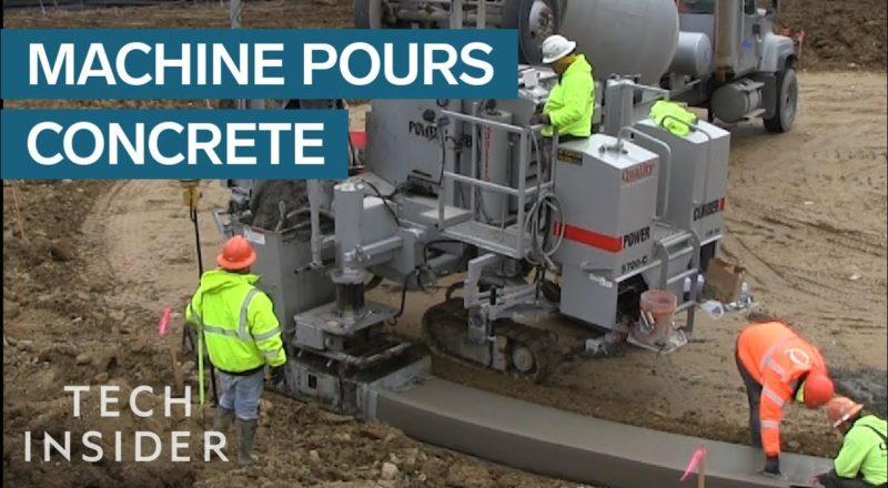Machine Pours Concrete Perfectly