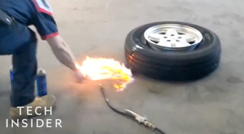 The Science Of Mounting Tires With Controlled Explosions