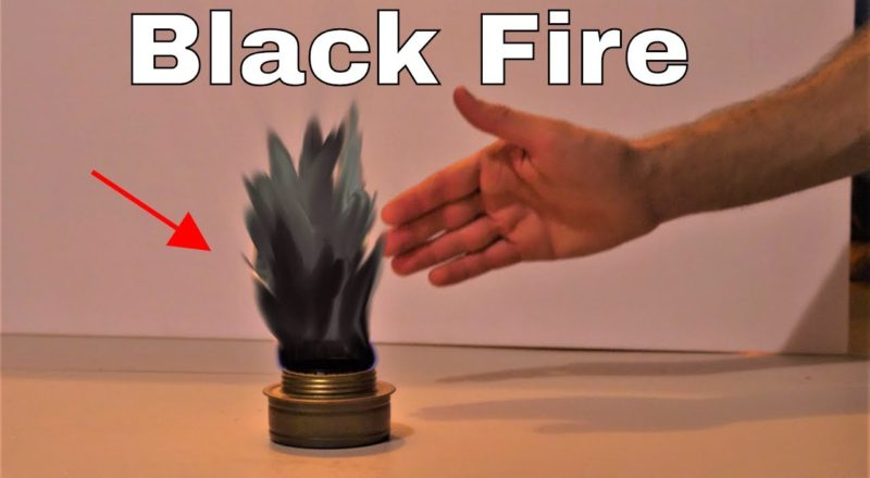 Youtube scientist shows us black fire!