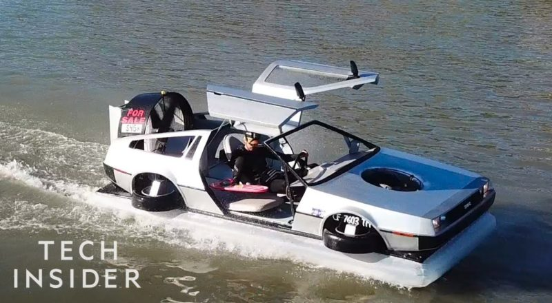 DeLorean Hovercraft Is Perfect For 'Back To The Future' Fans