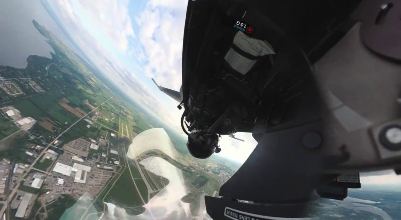 F-16 uses a motion stabilizing cockpit camera