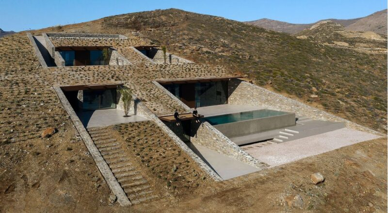Architects Built a Ridiculously Fancy Underground House Into a Cliff