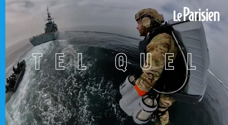 Royal Navy Soldiers Having Fun with Jet Packs